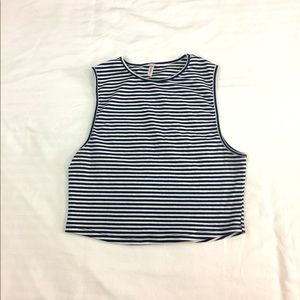 Striped Sleeveless Crop Top size L